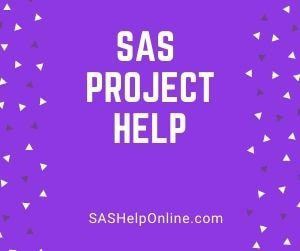 SAS project help