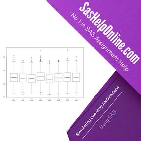 Simulating One-Way ANOVA Data Using SAS Assignment Help