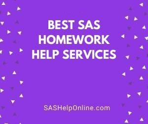 Best SAS Homework Help Services