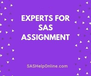 Experts For SAS Assignment