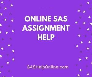 Online SAS Assignment Help
