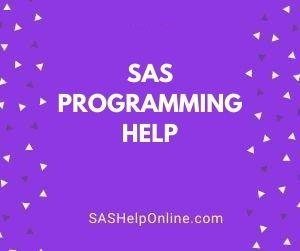 SAS Programming Help